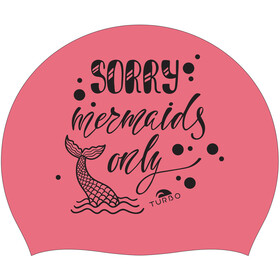 Turbo Sorry Mermaids Only Swimming Cap coral